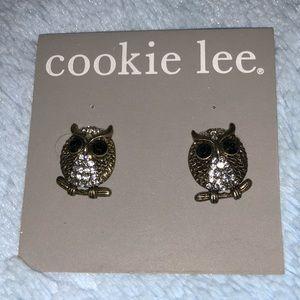 Cookie Lee owl earrings